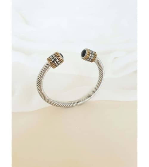 Bracelet rigide en acier inoxydable