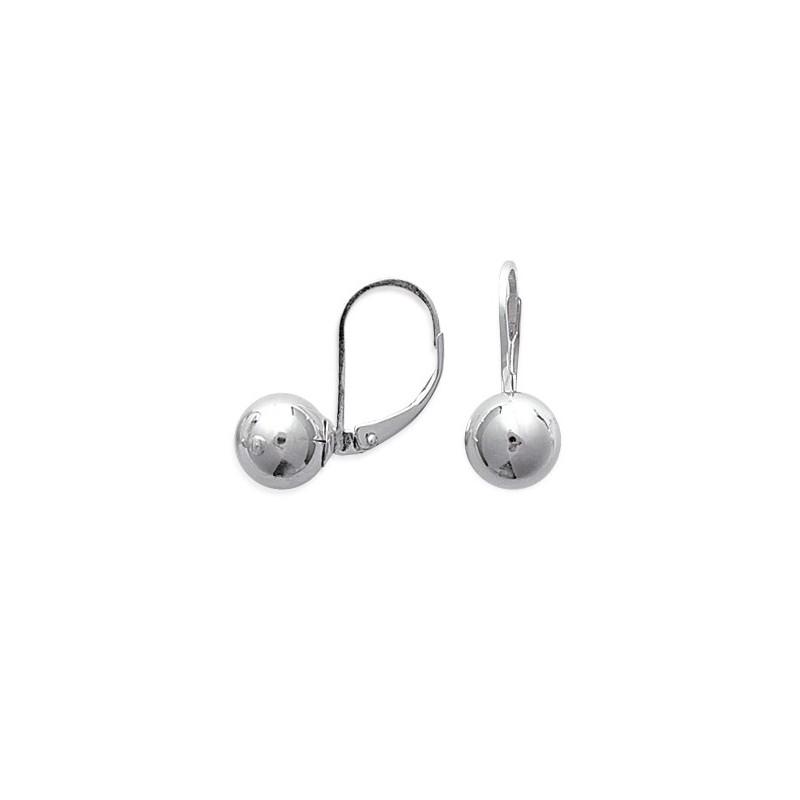 boucles d oreilles boules en argent 925 1000 avec fermeture dormeuse despierre bijoux. Black Bedroom Furniture Sets. Home Design Ideas