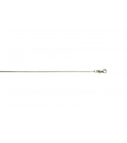 Chaîne en argent 925/1000ème rhodié maille gourmette, en longueur 38 cm