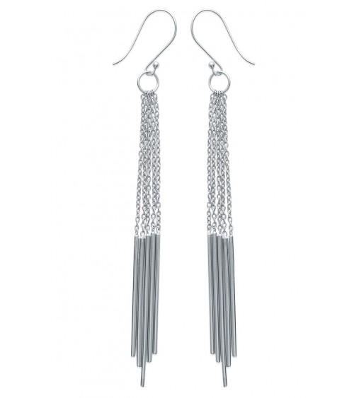 Boucles d'oreilles pendantes en argent 925/1000, avec crochets