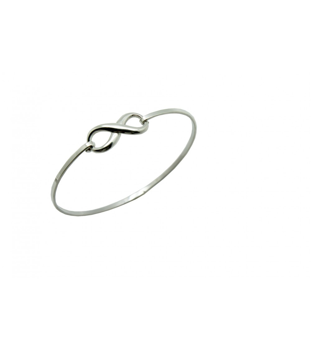 "Bracelet ""infini"" rigide en argent 925/1000"