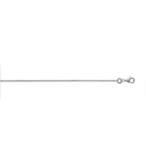 Chaine en argent 925/1000 rhodié, maille gourmette, longueur 50 cm