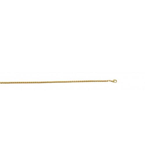 Gourmette en plaqué or en longueur 19 cm