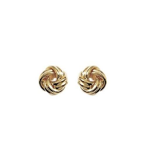 """Boucles d'oreilles """"boules torsadées"""" en plaqué or, avec poussettes"""