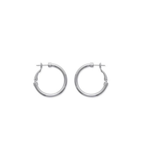 Boucles d'oreilles créoles en acier diamètre 30 mm (épaisseur 3 mm)