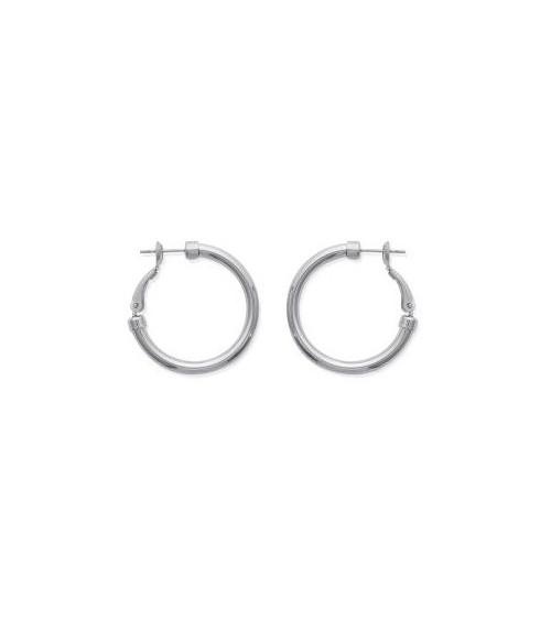 Boucles d'oreilles créoles en acier diamètre 30 mm (épaisseur 3 mm)