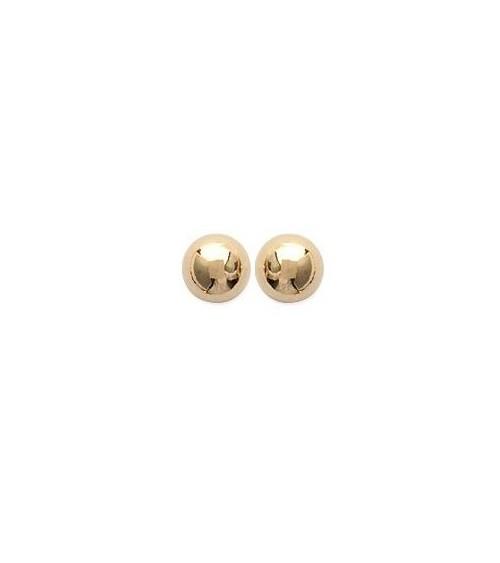 """Boucles d'oreilles """"boule"""" en plaqué or, avec poussettes (6 mm)"""