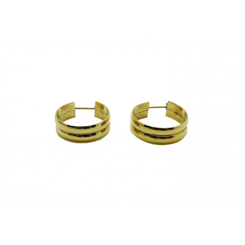Boucles d'oreilles en plaqué or, en diamètre 20 mm