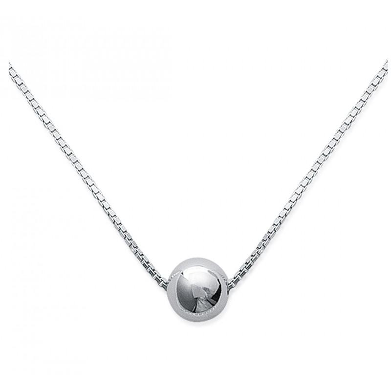 collier argent 42 cm