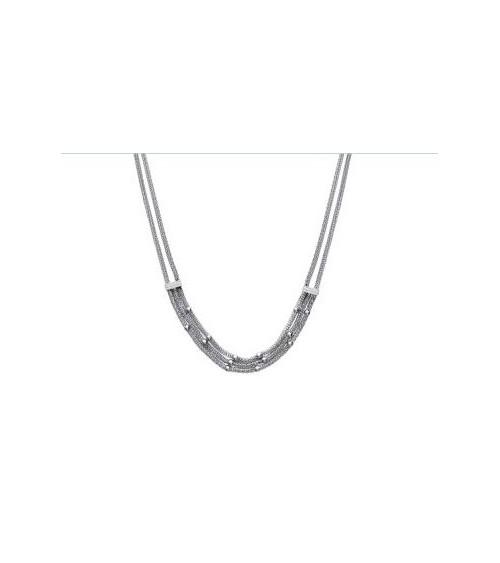 Collier en acier souple à 3 rangs en longueur 50 cm