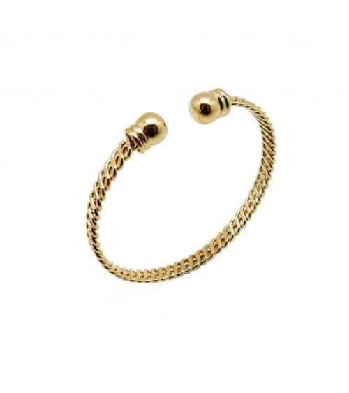 Bracelet rigide ouvert en plaqué or