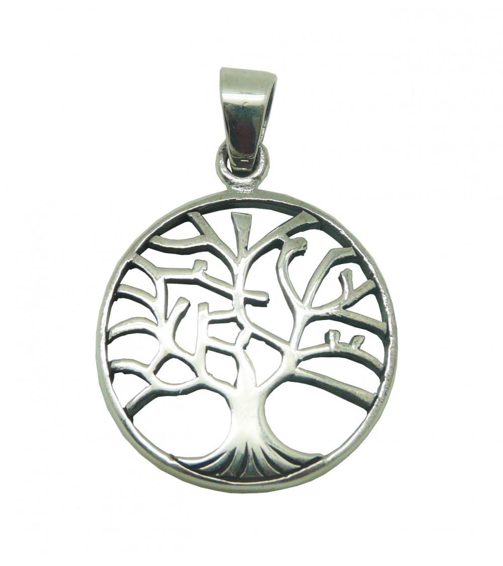 """Pendentif seul en argent 925/1000 motif """"arbre de vie"""" (voir chaine vendue séparément)"""