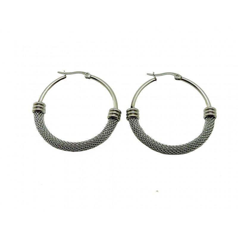 Boucles d'oreilles créoles en acier