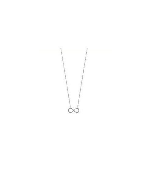 """Collier """"infini"""" en argent 925/1000 rhodié, en longueur 45 cm pouvant être ramenée à 42 cm"""