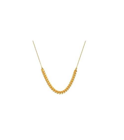 """Collier """"feuilles"""" en plaqué or, en longeur 42 cm"""
