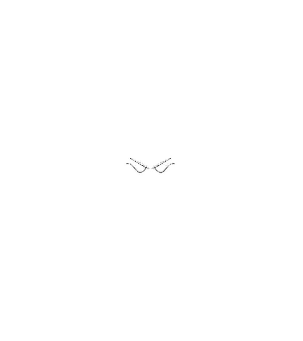 """Boucles d'oreilles """"contour d'oreilles"""" """"plume"""" en argent 925/1000 rhodié"""