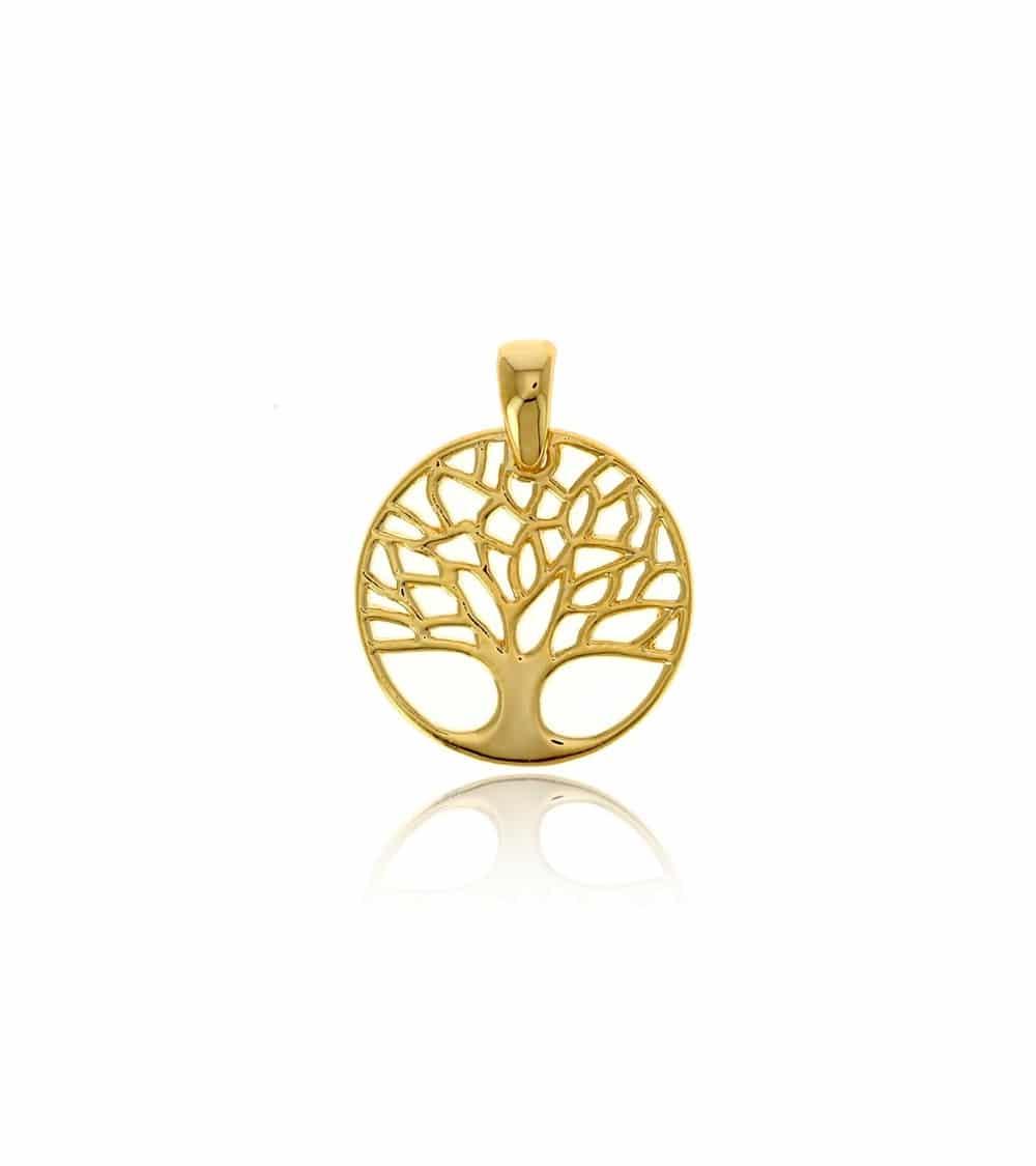 """Pendentif """"arbre de vie"""" en plaqué or"""