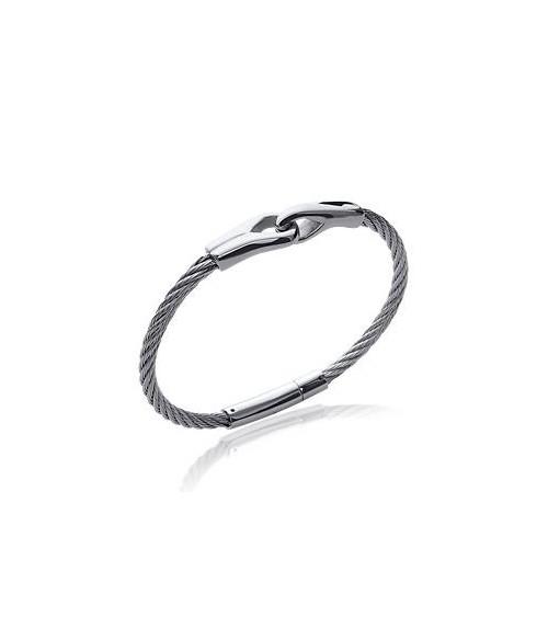 """Bracelet """"menottes"""" en câble acier en diamètre 60 mm"""