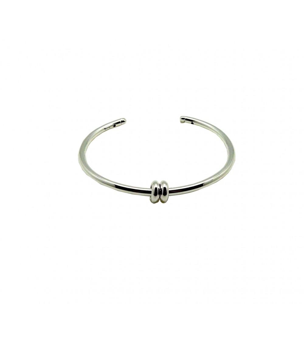 Bracelet ouvert en argent 925/1000 souple