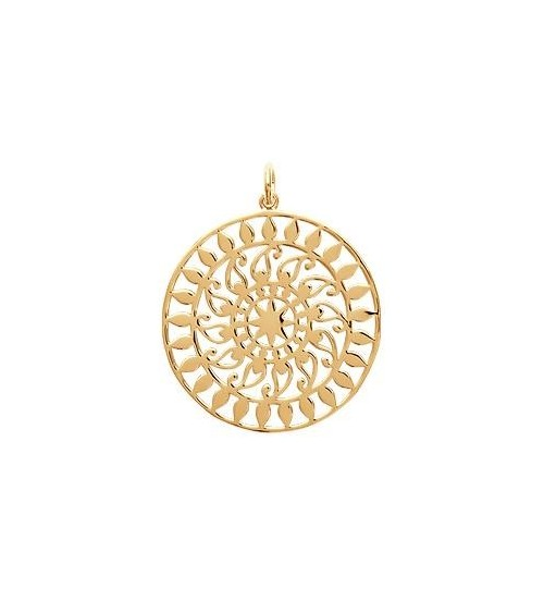 """Pendentif seul en plaqué or motif """"soleil"""" (voir chaine vendue séparément)"""