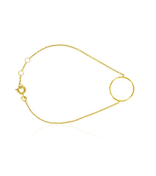 """Bracelet """"rond"""" en plaqué or en longueur 17 cm réglable en 18 et 19 cm"""