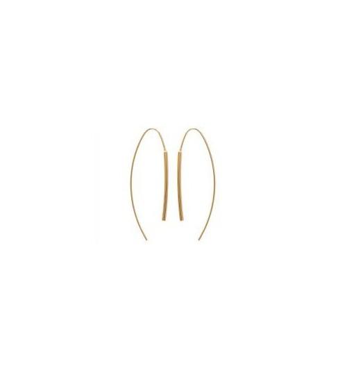 Boucles d'oreilles en plaqué or à longs crochets
