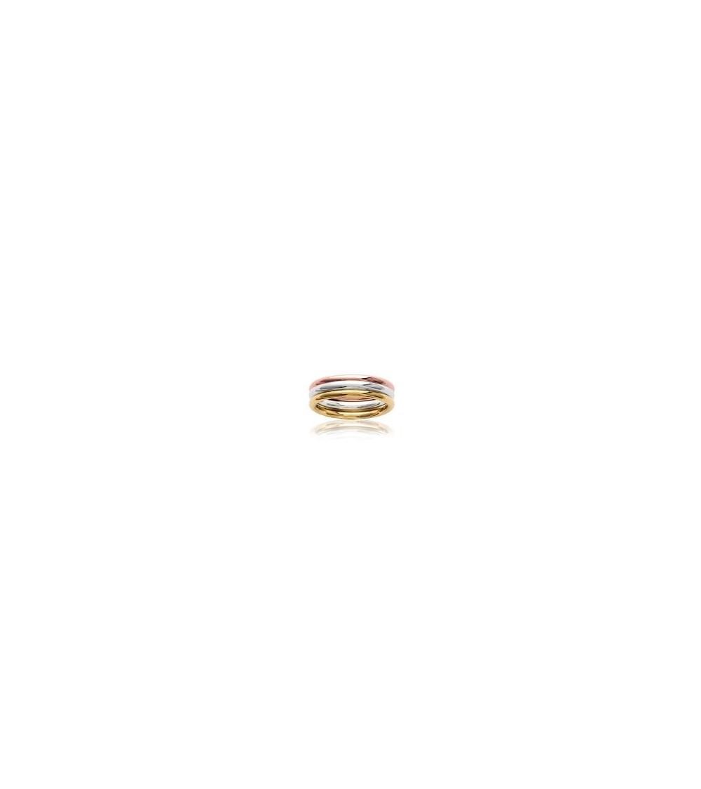 Bague en argent 925 rhodié , Plaqué or et Plaqué or rose