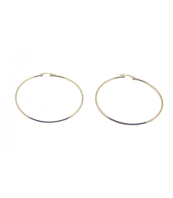 Boucles d'oreilles créoles lisses de diamètre 70 cm