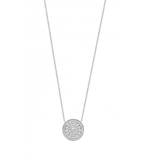 """Collier """"rond"""" en argent 925/1000 rhodié, en longueur 45 cm ajustable"""