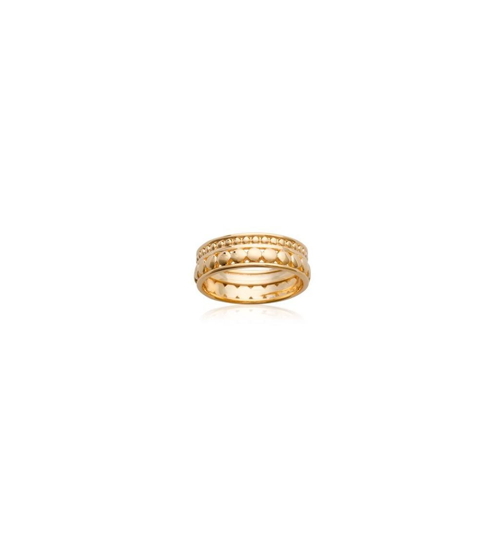 Bague anneau en plaqué or