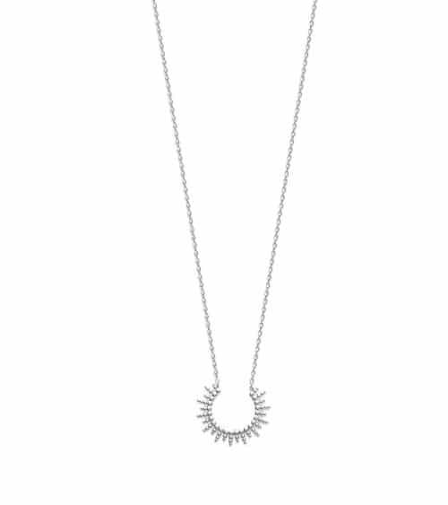 Collier en argent 925/1000 rhodié en longueur 45 cm ajustable à 42 et 40 cm