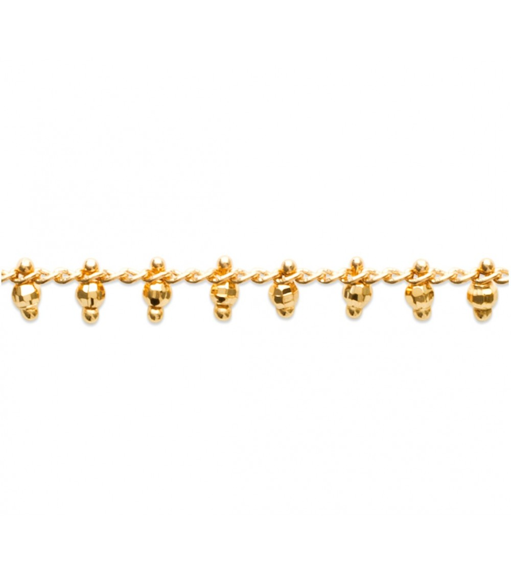 Collier en plaqué or avec pampilles en Plaqué or ( longueur 42 cm)