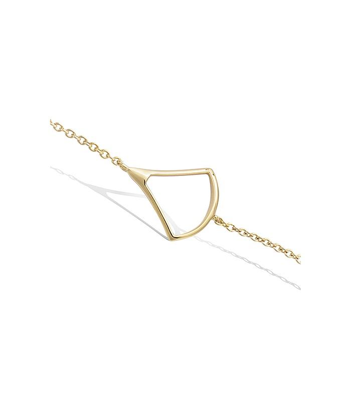 Bracelet en plaqué or avec motif triangle en longueur 18 cm