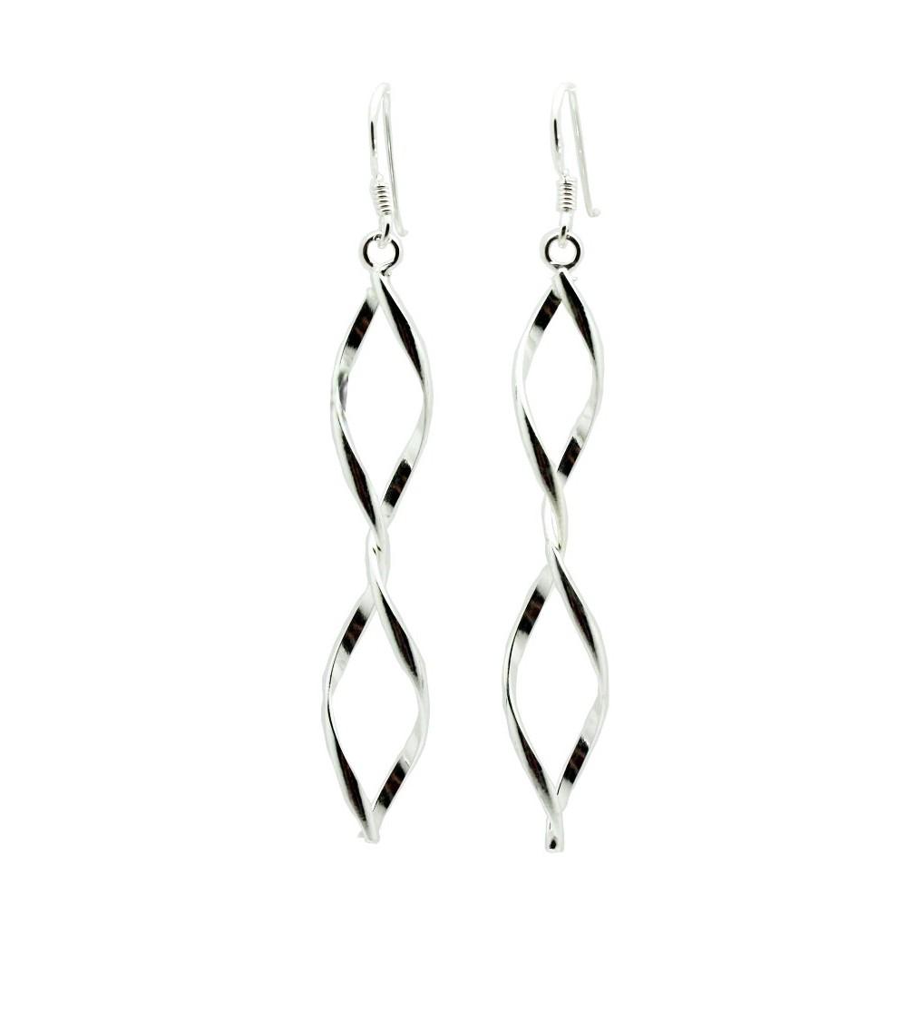Boucles d'oreilles en argent 925/1000 pendantes avec crochets