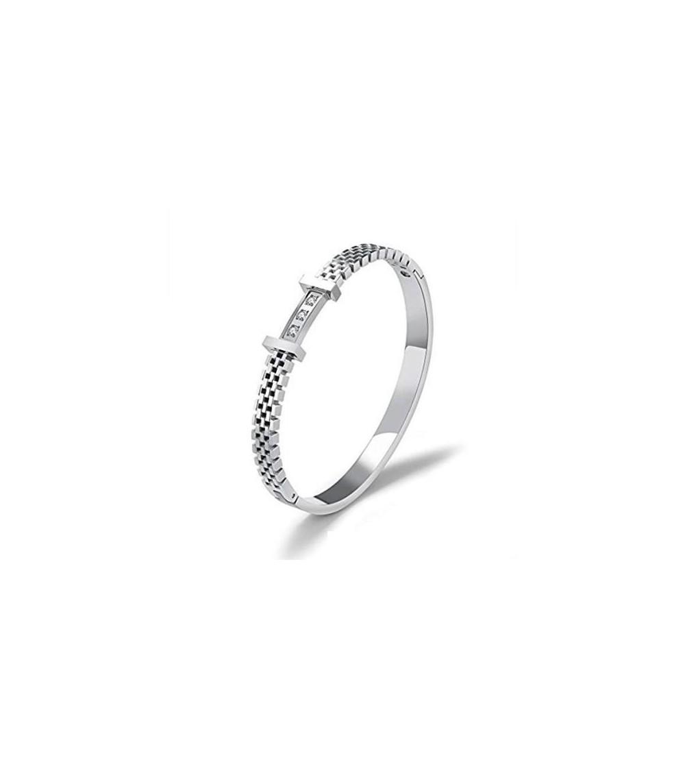 Bracelet jonc en acier inoxydable, rigide