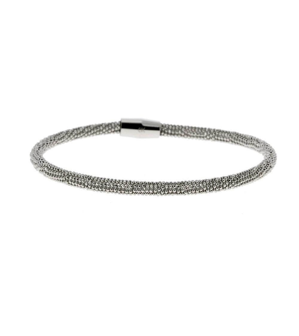 """Bracelet en acier maille """"picot"""" avec fermeture magnétique"""