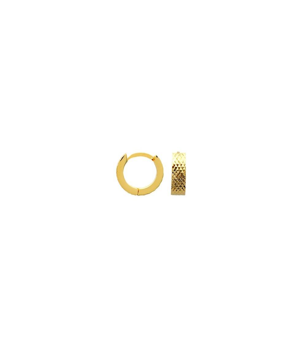 Boucles d'oreilles créoles en plaqué or