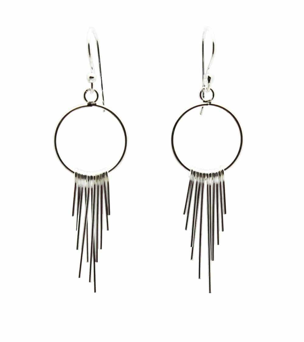 Boucles d'oreilles pendantes en argent 925/1000, à crochets