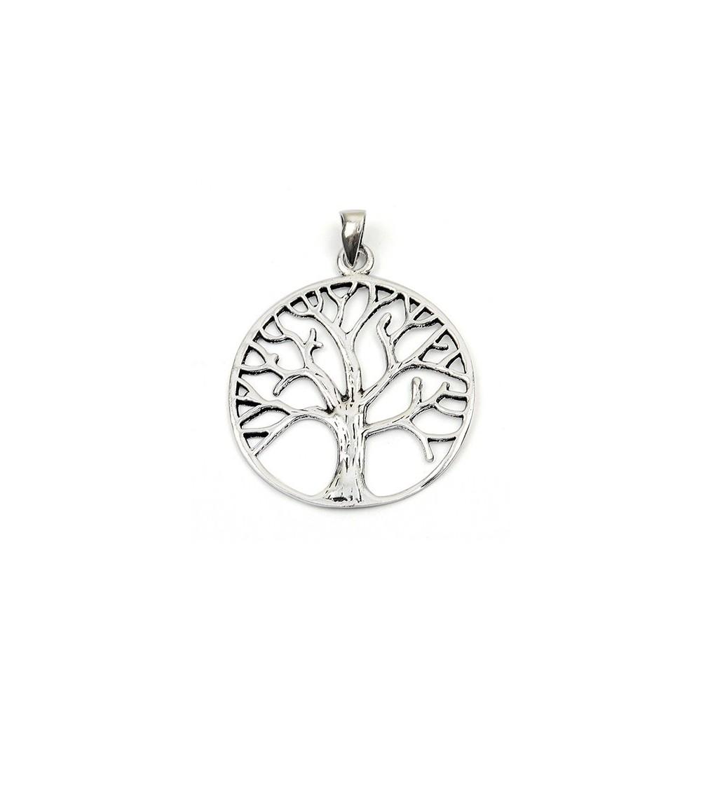 Pendentif seul arbre de vie en argent 925/1000 (chaîne vendue séparément)