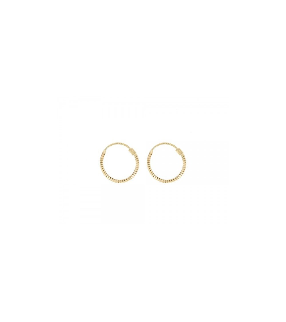 Boucles d'oreilles créoles en plaqué or (diamètre 14 mm)