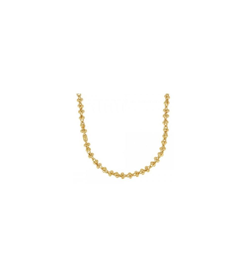 Collier en plaqué or en longueur 40 cm + extension de 5 cm