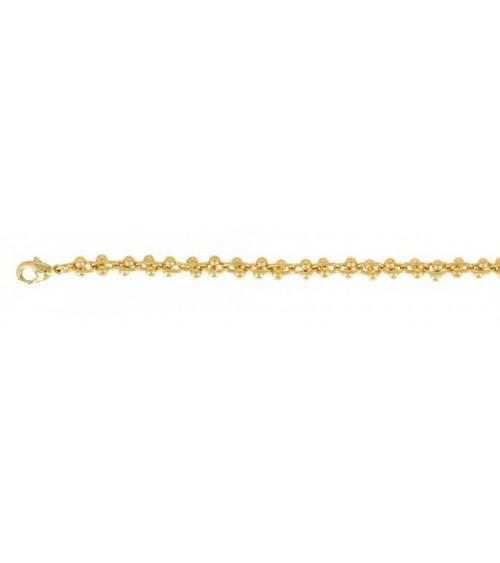 Bracelet en plaqué or en longueur 20 cm ajustable jusqu'à 16 cm