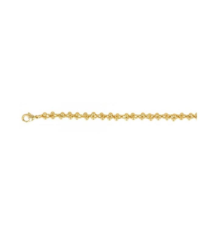 Bracelet en plaqué or en longueur 20 cm ajustable