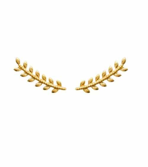 """Boucles d'oreilles contour d'oreilles """"épi""""en plaqué or"""