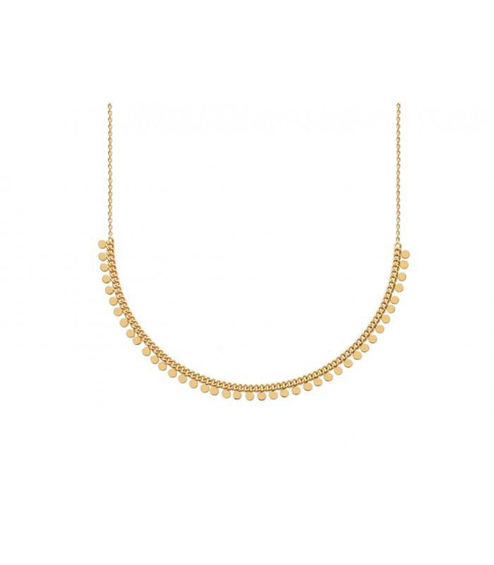 Collier en plaqué or à petites pampilles , en longueur 42 cm ajustable