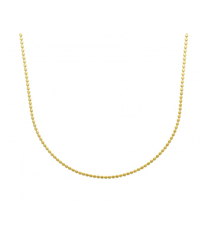 Collier en plaqué or à petites pastilles, en longueur 45 cm ajustable