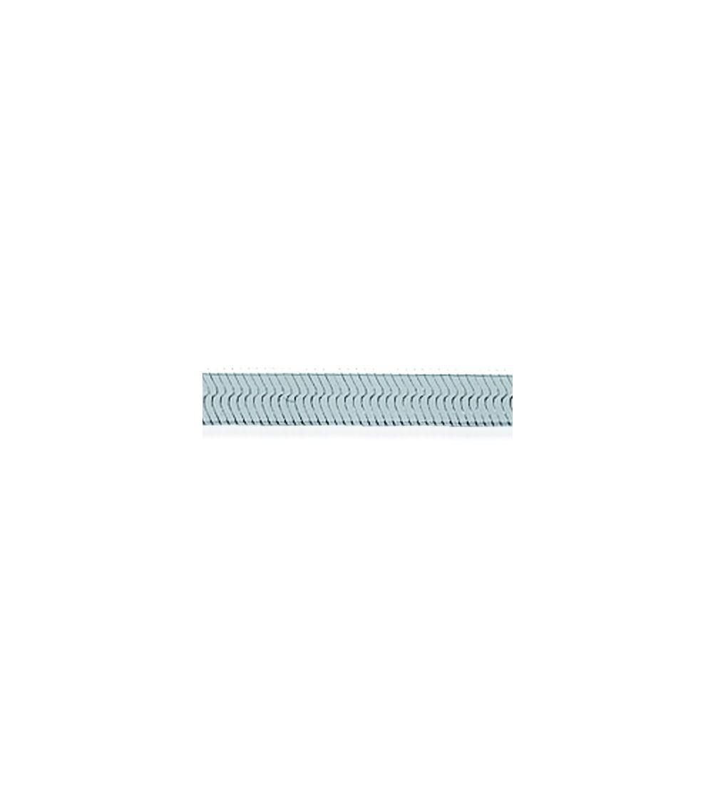 Bracelet maille miroir en argent 925/1000 rhodié, en longueur 18 cm