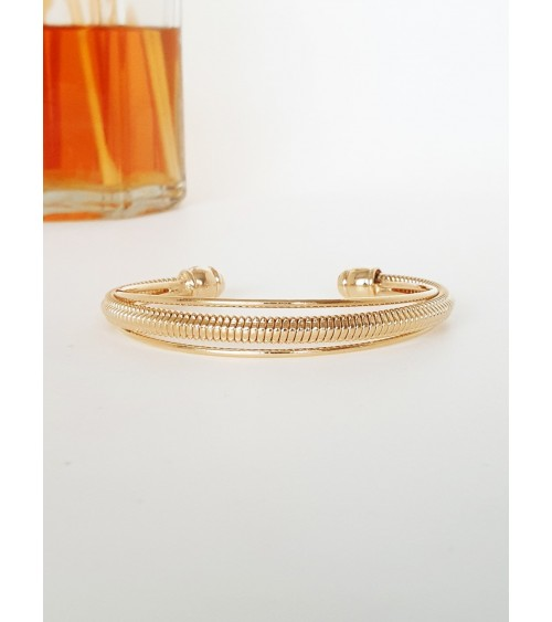Bracelet jonc ouvert en plaqué or