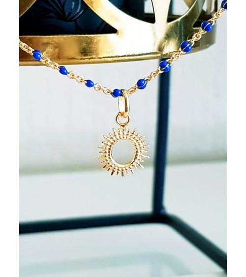 """Pendentif seul """"petit soleil"""" en plaqué or (voir chaîne vendue séparément)"""